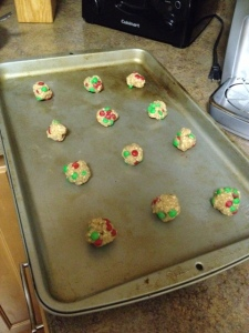 Early morning cookie baking