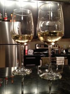 A little white wine for the beginner cooks!