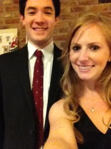And I had a pretty dapper date too!