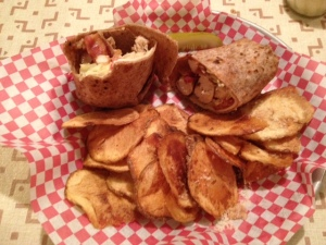The chicken wrap from our favorite restaurant, Vinny's Italian Grill