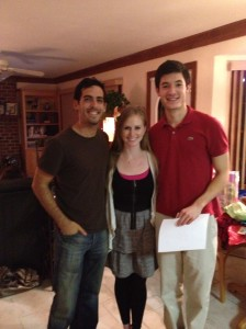 """the """"young-ins"""" (my cousin Joey, me, and Lee)"""