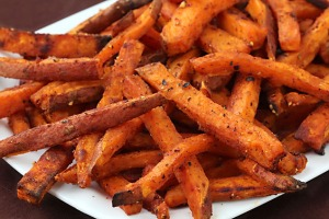 Sweet potato fries (baked not fried) are a good healthy treat