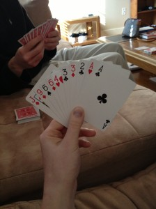Shh don't tell lee but I'm going to win in Rummy!