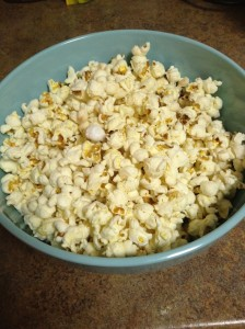 Easy popcorn to snack on for the week