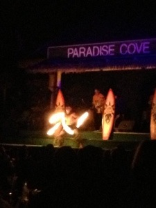 Dancers at the luau