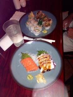 Saturday night- sushi!