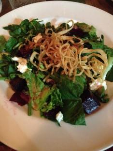 Beet salad for dinner