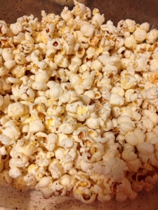 You can't go wrong with homemade popcorn- cheap, easy, healthy