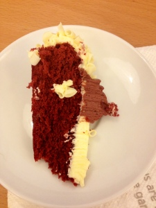My red velvet cake I got at work!