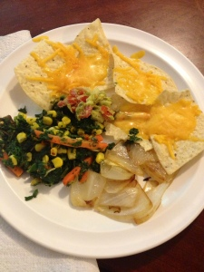 Nachos with veggies