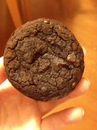 Healthy chocolate muffin brownies