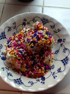 Ice cream + sprinkles