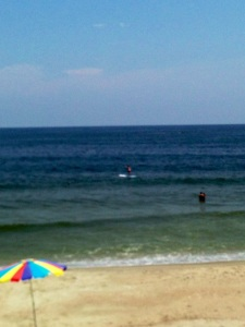 Staying afloat...paddle boarding in the ocean!