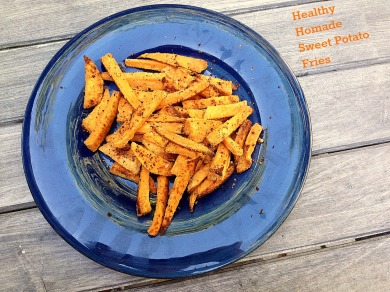 healthy homemade sweet potato fries