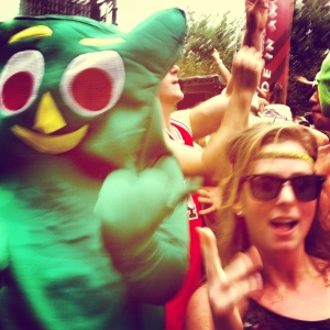 I slept well after partying with Gumby