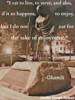 ghandi on eating
