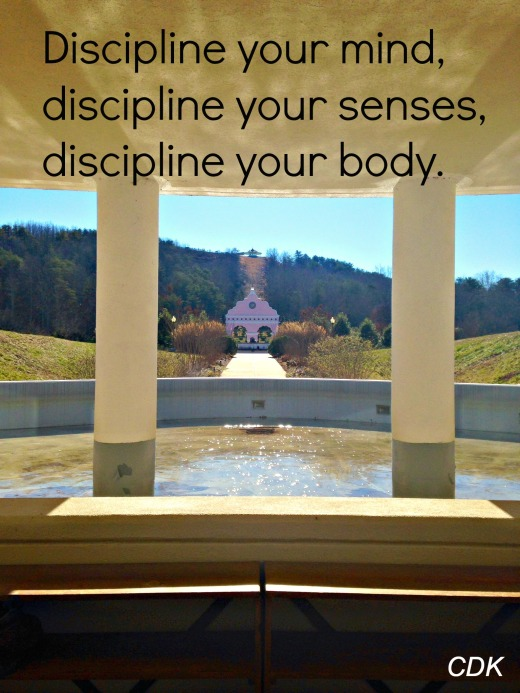 discipline yourself