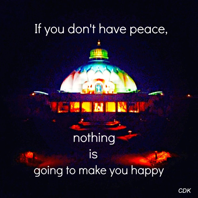 if you don't have peace...