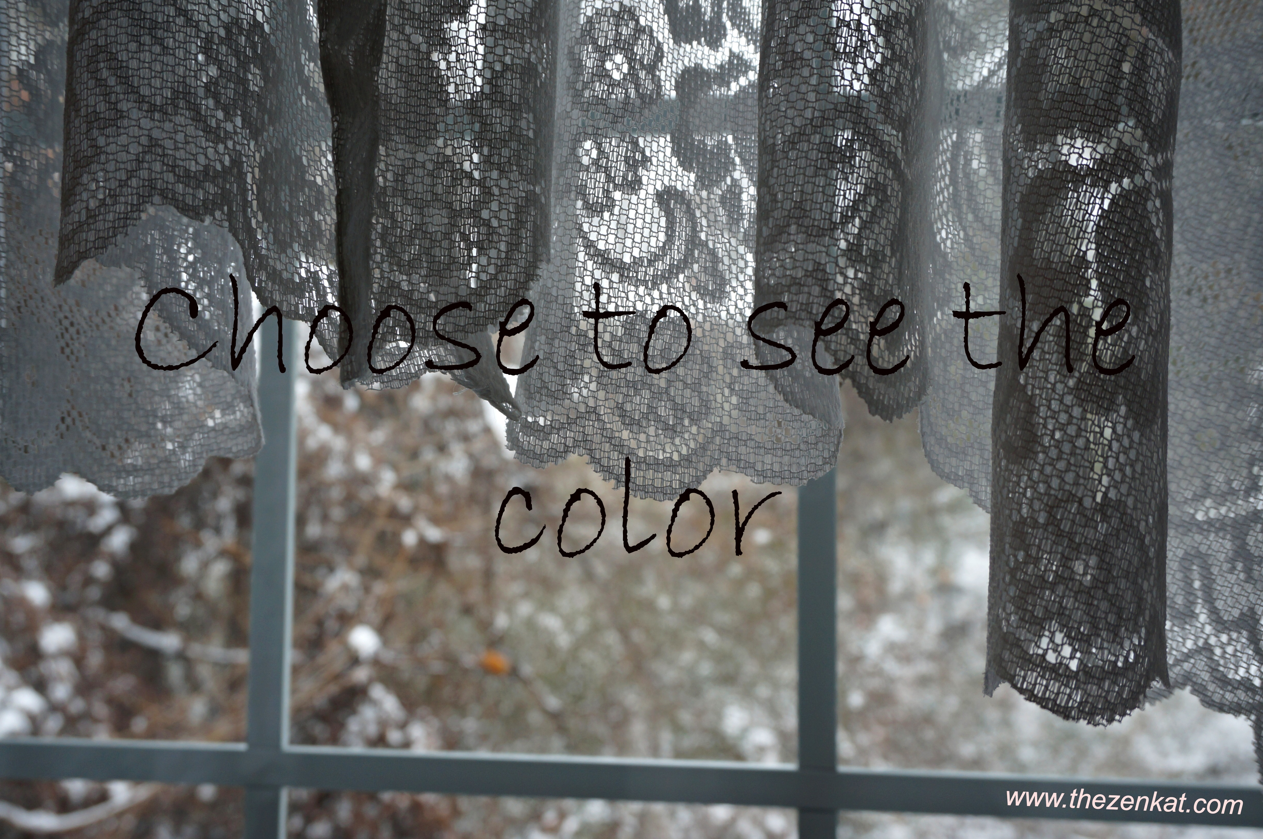 choose to see the color