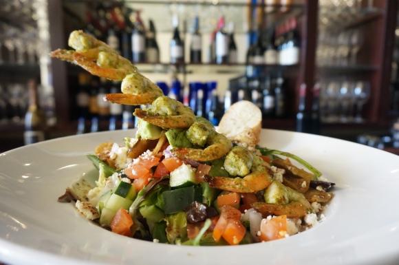 Shrimp salad at Basil